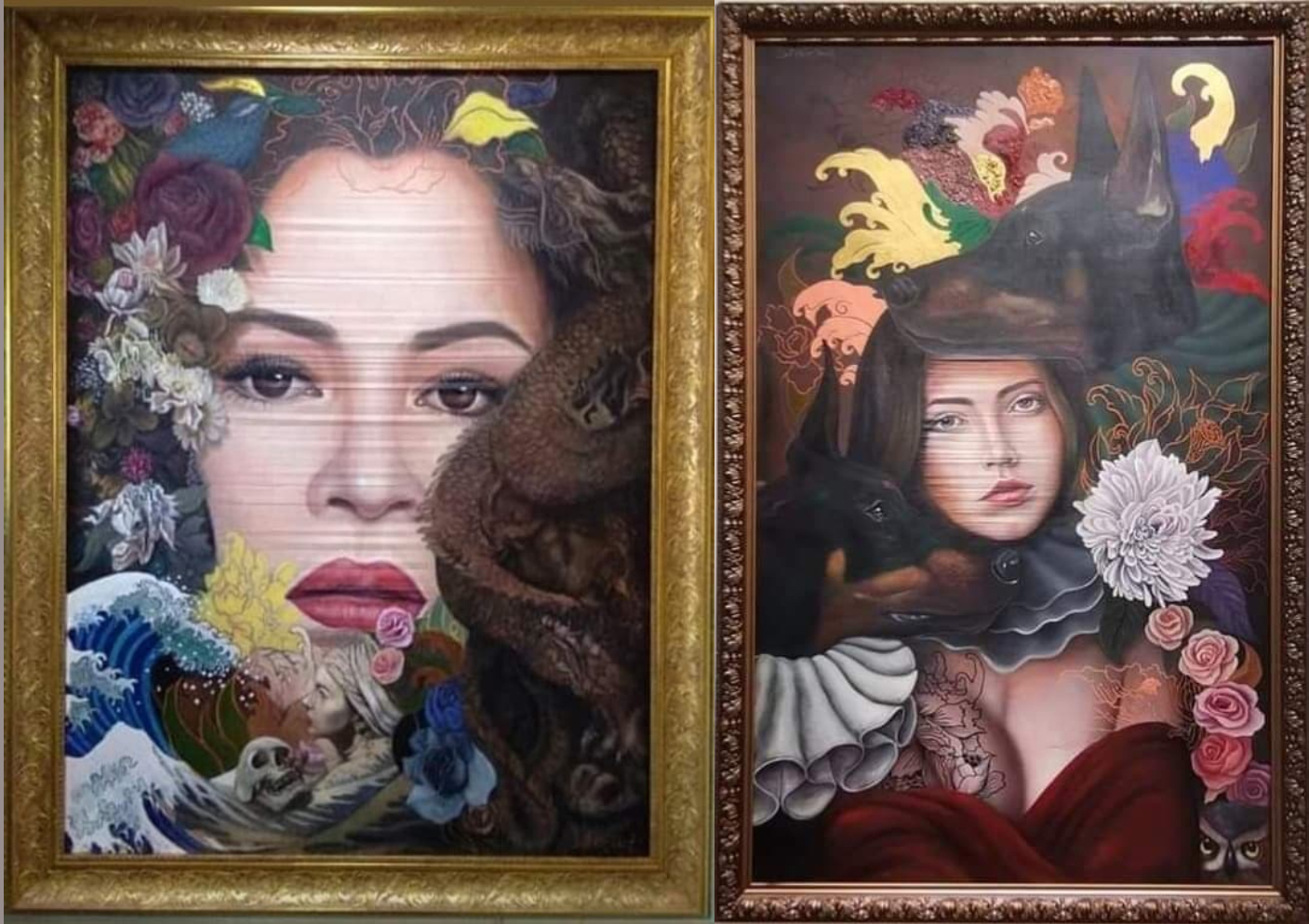 Dela Cruz Works On Display At Newport Mall