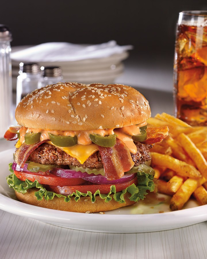 Show of hands if you want this Spicy Sriracha Burger from Denny's!