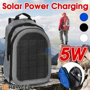 5W 5V Waterproof Flexible Solar Panel Backpacks Convenience Charging Laptop Bags for Travel Solar Ch...