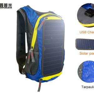 6w 6v USB Solar Panel Blue BackpackCharger Oversize Large energy solar Men's Women's Bag Unise...