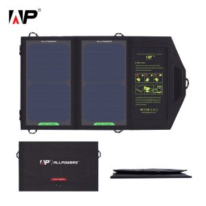 ALLPOWERS Folding Camping Solar Panel 5V 10W  Charger Outdoor Backpack Mobile Power Bank for Phone U...