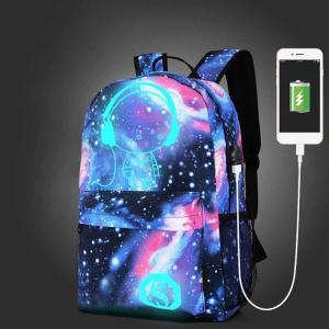 Children School Bags Galaxy Space Star Printing Backpack For Teenage Girls Boys Schoolbags USB Charg...