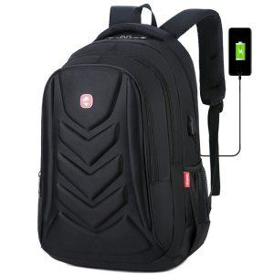 Crossten Swiss Multifunctional EVA  Protect shell 15″ Laptop Backpack USB Charge Port  Mochila...