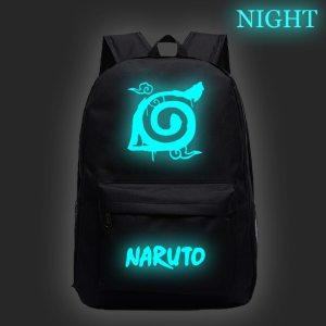 Hot Sale NARUTO Sharingan Luminous Backpack Fashion New Pattern Travel Rucksack Students Boys Girls ...