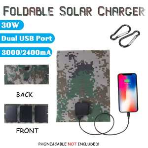 Newest 30W 5V Foldable Solar Power Bank Charger Solar Panel Monocrystalline Solar Cells Package with...