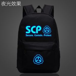 SCP Secure Contain Protect School Bag noctilucous Luminous backpack student bag Notebook Daily backp...