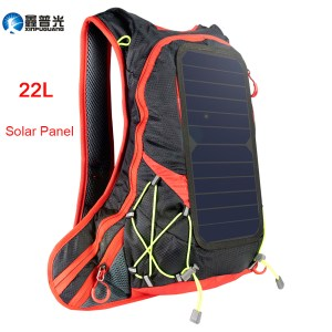 Xinpuguang 6W 6V USB Red Backpack Solar Panel Battery Power Bank Charger for Smartphone Outdoor Camp...
