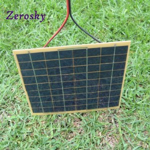 Zerosky 5W/12V Phone Car Solar Panel Charger Battery Trickle Charger Backpack Power for Casual Use 2...