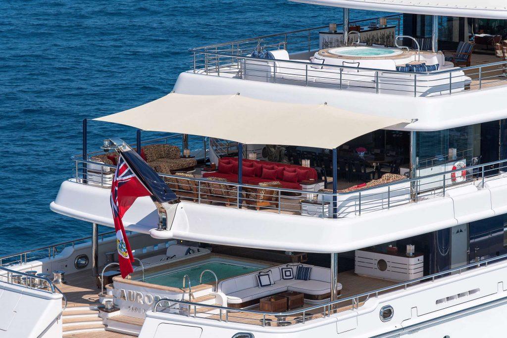 Aurora yacht aft deck