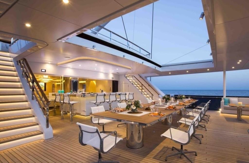 interior photo anna yacht dining area