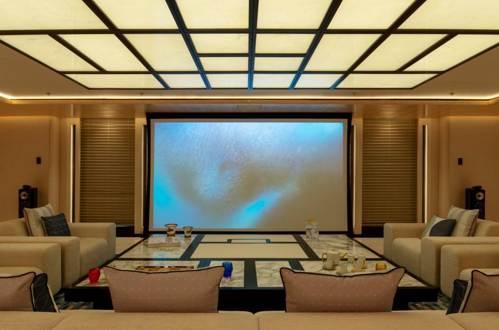 Main lounge area with cinema mode