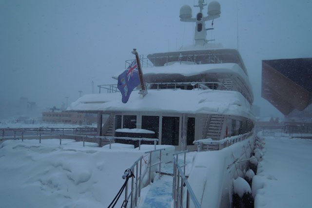 Icon Yachts Delivers Maidellein A Snowstorm Megayacht News