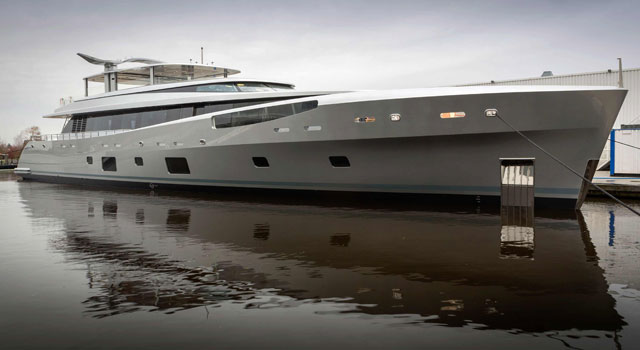 Motoryacht Como Splashes At Feadship For Neville Crichton