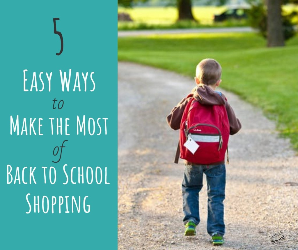 Make Back to School shopping super easy with a 5 step process perfect for busy parents!