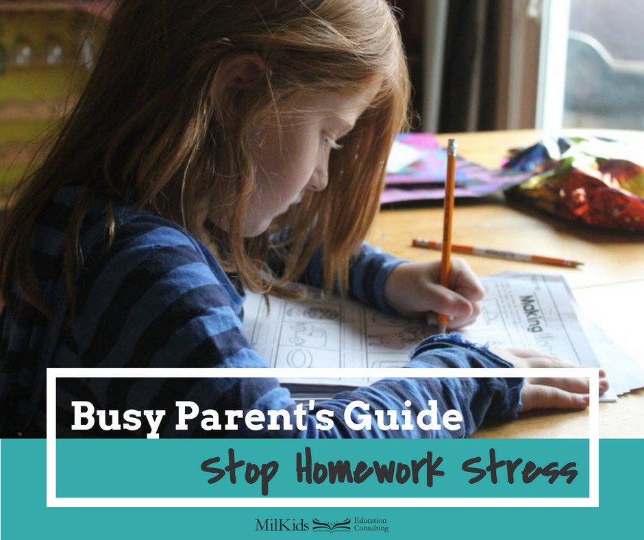 Find simple school solutions to stop homework stress in the School Success Shop by MilKids Ed