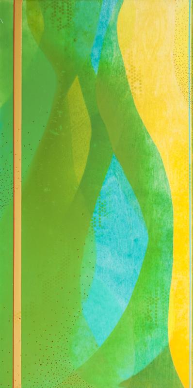 """Semi-Charmed"" by Meghan MacMillan, 24 x 12"", acrylic on birch panel, 2014"