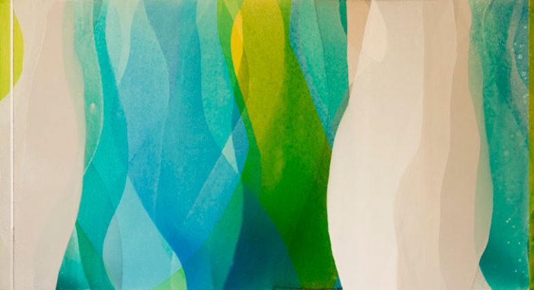 """""""Surrender Every Care"""" by Meghan MacMillan, 24 x 44"""", acrylic on canvas, 2014"""