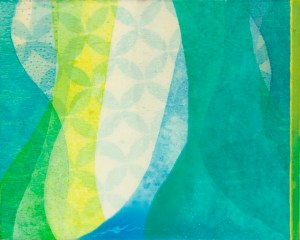 """Closer Than I Was"" by Meghan MacMillan, acrylic on birch, 8 x 10"", 2014"
