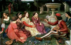 A Tale from the Decameron (1916) - by John William Waterhouse