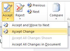 accept change drop down