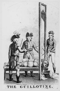 Image result for Image of Guillotine French Revolution