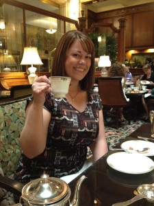 High Tea at The Brown Palace Hotel & Spa shortly after she moved from Phoenix to Denver.