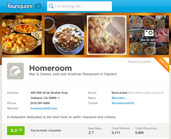 homeroom on Foursquare