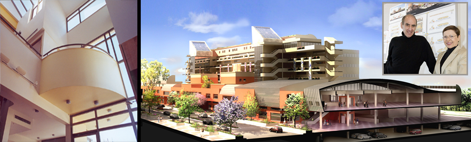 Rick Meghiddo, Ruth Meghiddo, Meghiddo Architects, www.architectureawareness.com , www.rick-RE.com , www.naturaltowergarden.com , senior housing, Jaffa, Israel, Long Beach,