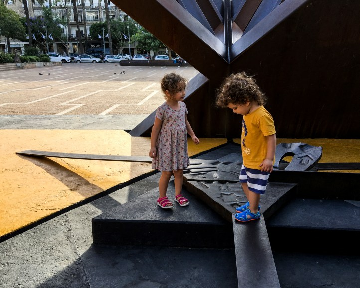 Holocaust and Revival sculpture by Yigal Tumarkin in Rabin Square, Tel-Aviv, Israel