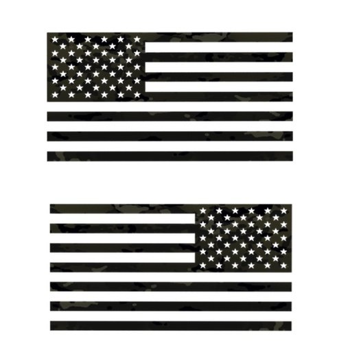 Multicam Black flag Decal Set