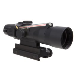 Trijicon 3×30 Compact ACOG Scope with Dual Illuminated Red Crosshair 300BLK 115/220gr. Ballistic Reticle and Colt Knob Thumbscrew Mount