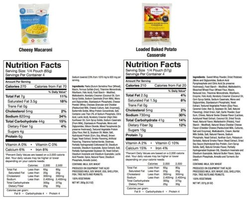 Wise Emergency Foods Nutrition facts 4