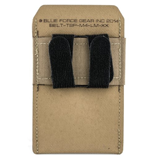 Coyote Blue Force Belt Mount M4 Mag Pouch Low