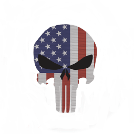 Punisher Skull with American Flag Decal