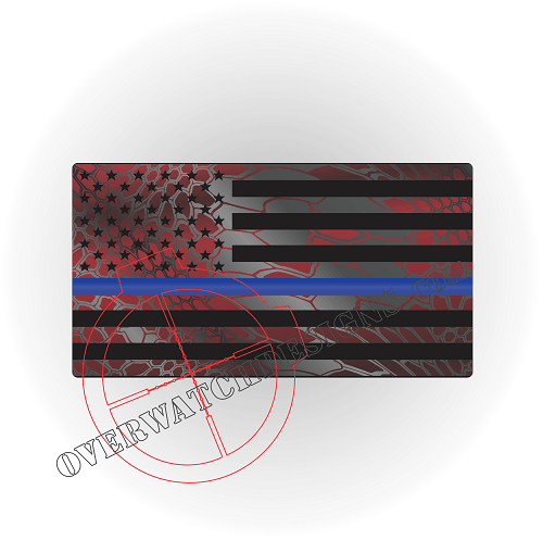 Dragon Skin Thin Blue Line Flag Sticker