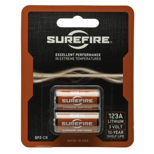 Surefire CR123 Lithium Batteries - 2 Pack