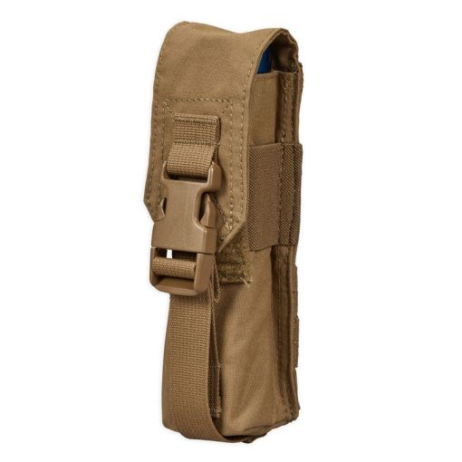 Chase Tactical Large Flashlight/Suppressor Pouch - Coyote