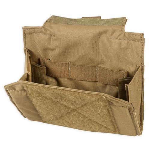 Chase Tactical Folding Admin Pouch - Coyote Open 2