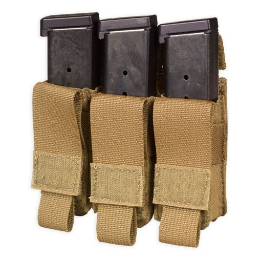 Chase Tactical Triple Pistol Mag Pouch - Coyote