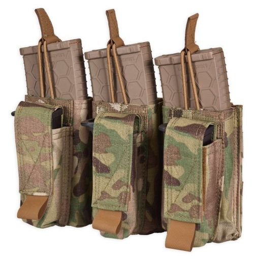 Chase Tactical Triple Kangaroo Mag Pouch - Multicam
