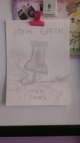 """""""Paper Towns"""" book cover sketch"""