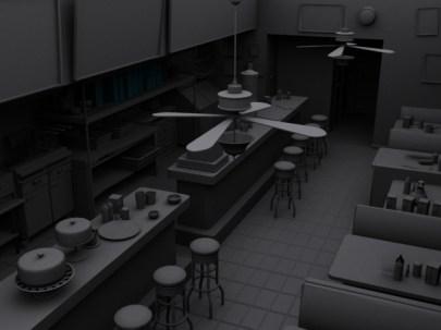 Nightime Diner by GrayBann