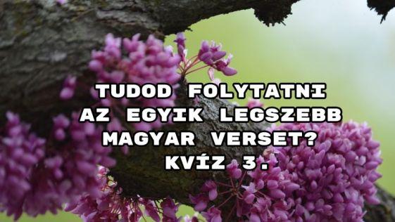 Tudod folytatni az egyik legszebb magyar verset? kvíz 3. – jöhet egy telitalálatot?