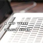 A nap verse július 27-én - érdemes elolvasni