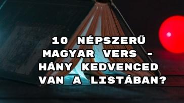 10 népszerű magyar vers - hány kedvenced van a listában?