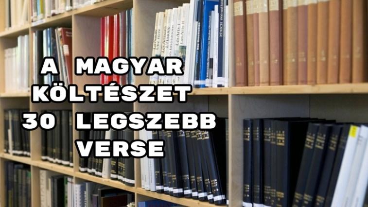 A magyar költészet 30 legszebb verse