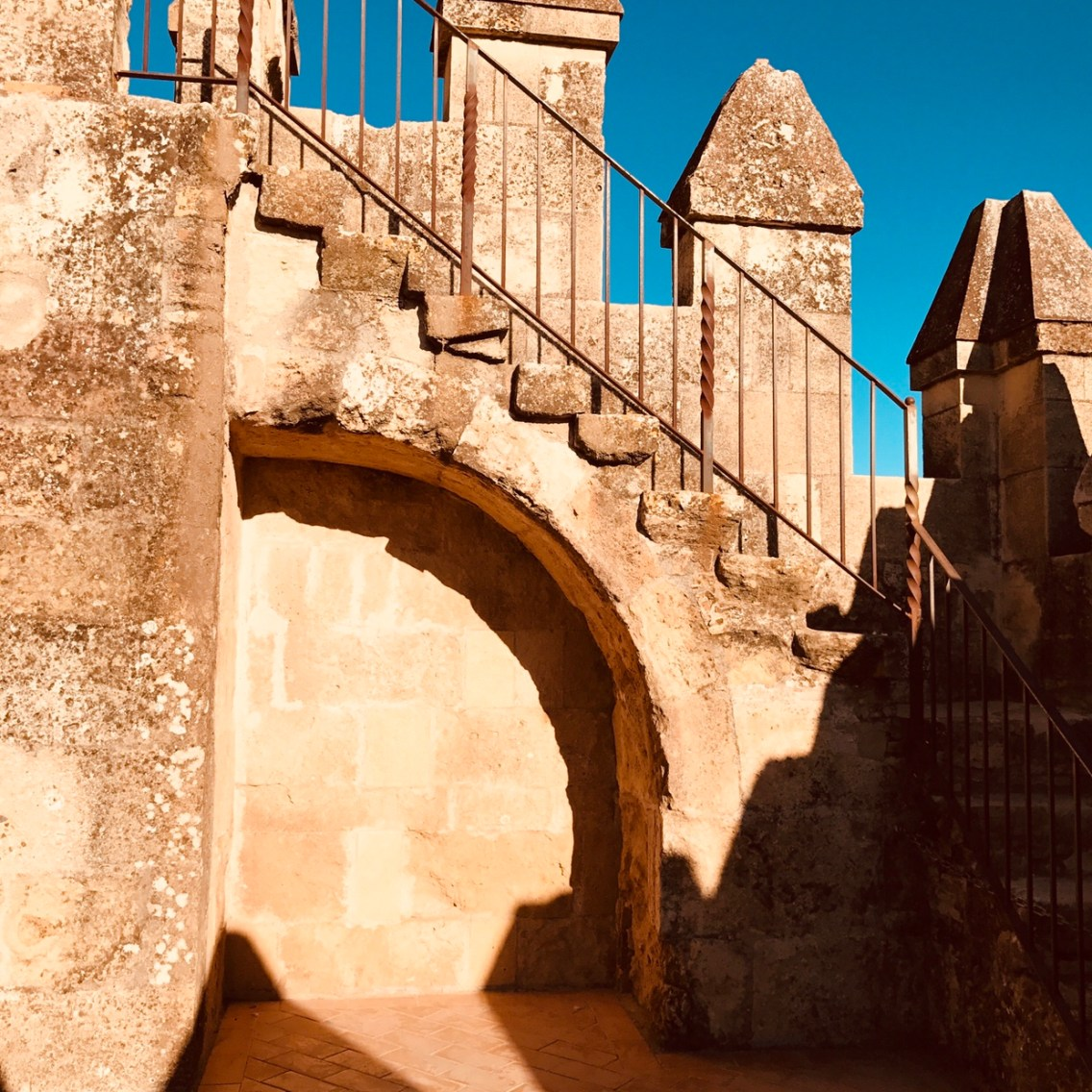 The way to the the towers of the Alcazar.