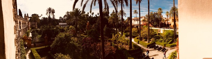 The panaromic view of the Royal Alcazar