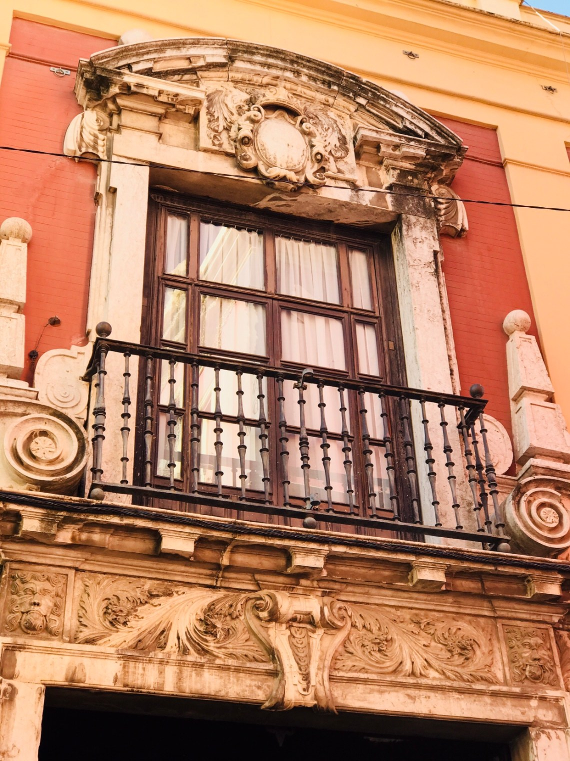 A window on the house in the lanes of Seville.