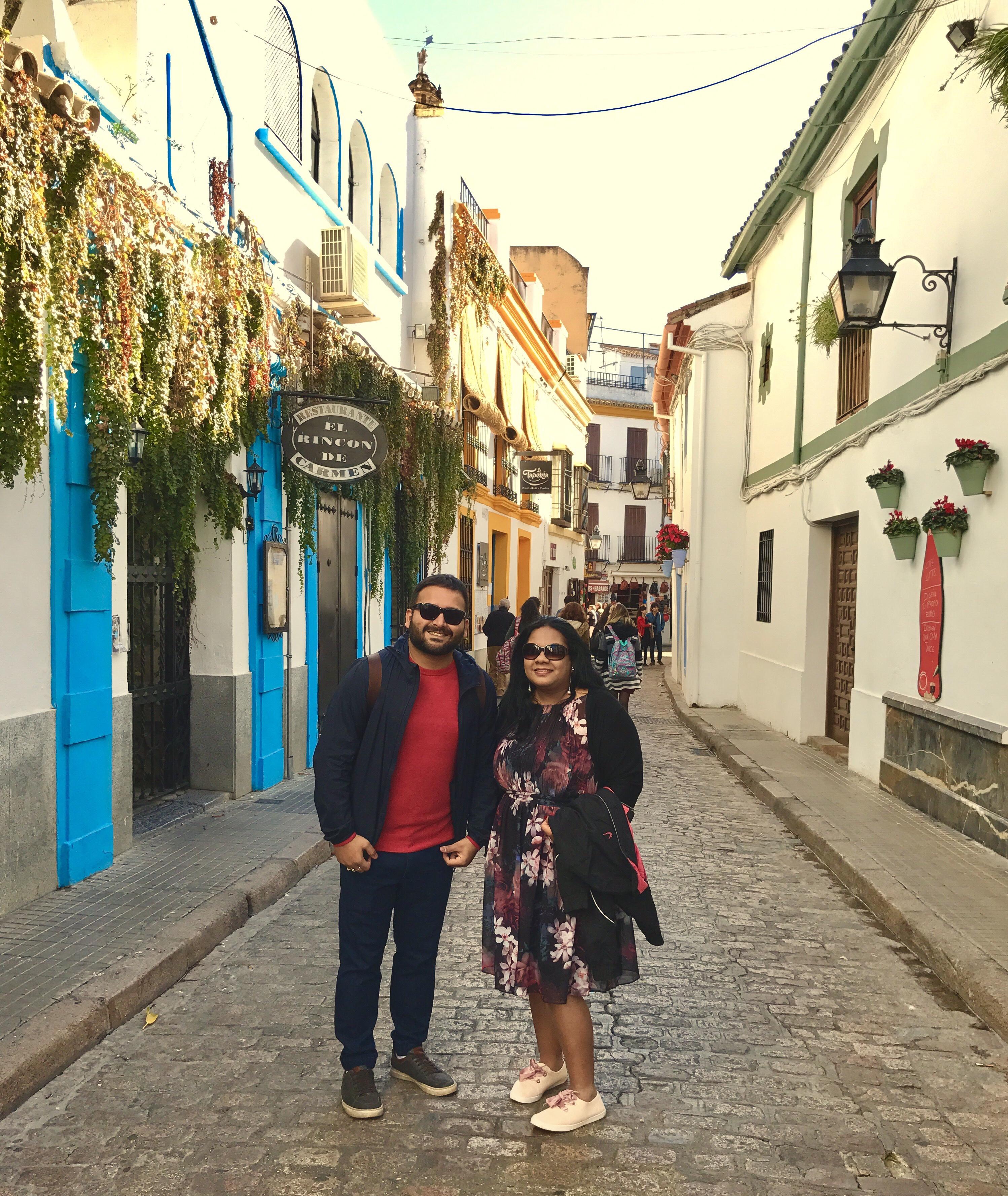 The beautiful streets of Cordoba.